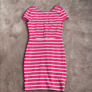 Dresses & Skirts - Pink stripe dress with low back